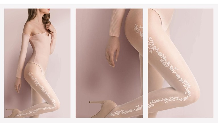 Clementine in Love collants cor champagne